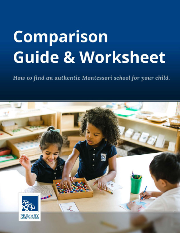 Comparison Guide & Worksheet | Primary Montessori | Maryland